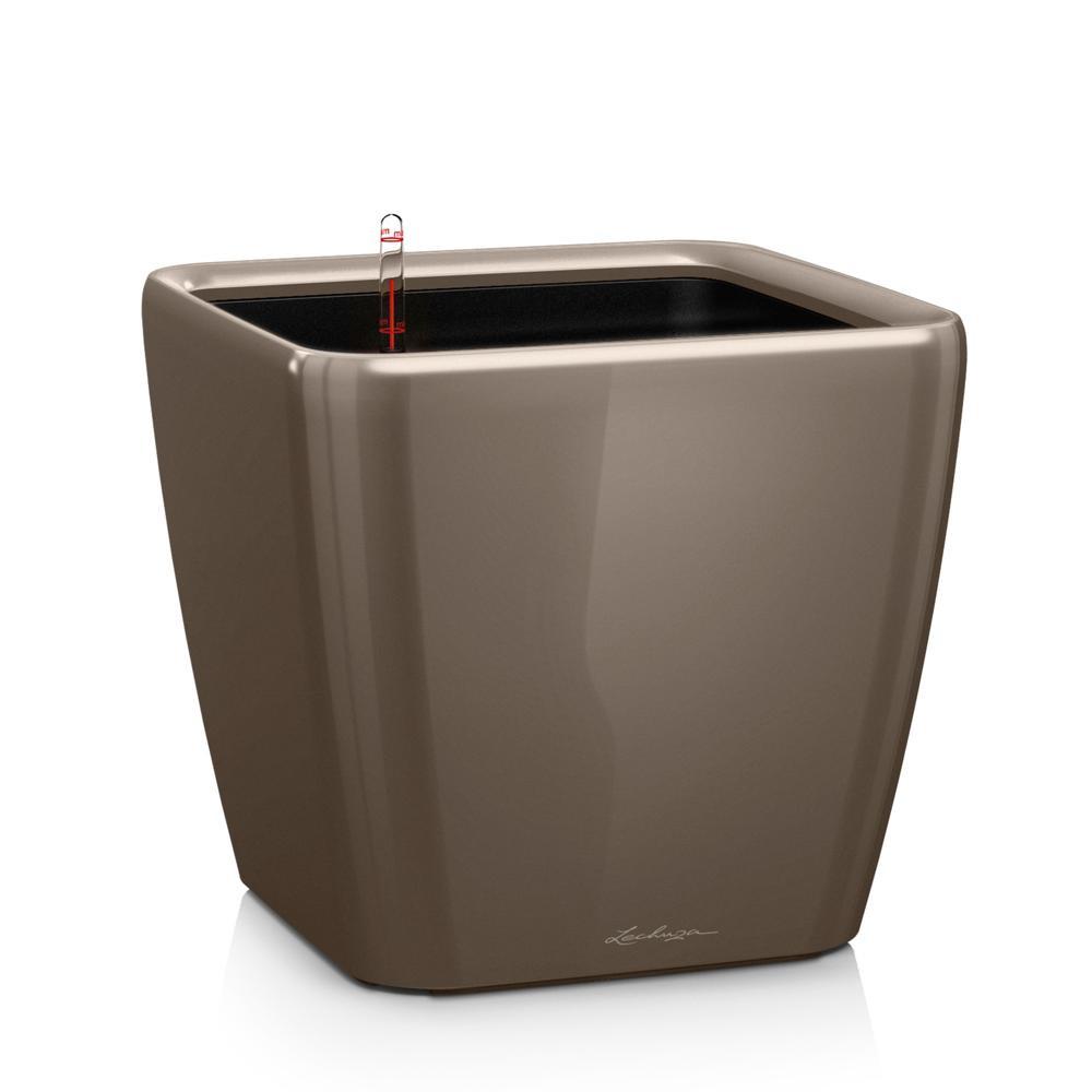 Pot Quadro Premium LS 28 - kit complet, taupe brillant 28 cm
