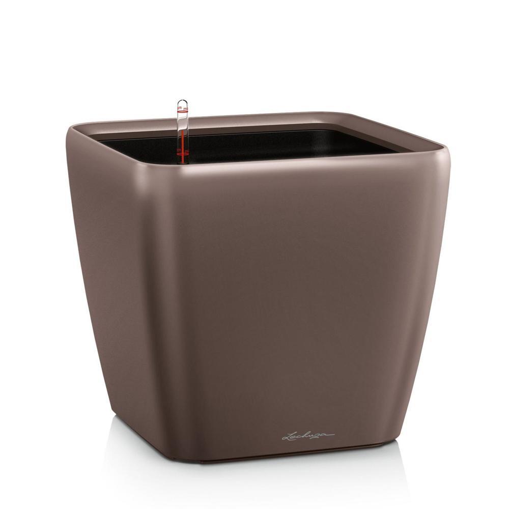 Pot Quadro Premium LS 28 - kit complet, espresso métallisé 28 cm