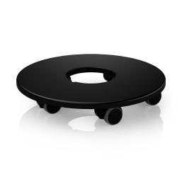Support à roulettes pour Classico 70, noir Ø 42 de marque LECHUZA, référence: J4603700