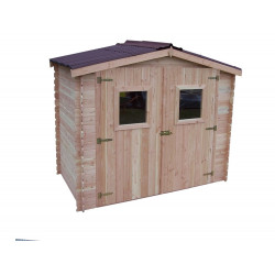 Abri DALIA madriers 20 mm sans plancher toit double pente 5,71 m² de marque HABRITA, référence: J4612900