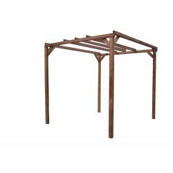 Pergola THONON en bois thermo chauffé sans couverture 8,88 m² de marque HABRITA, référence: J4614600