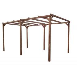 Pergola THONON en bois thermo chauffé sans couverture 14,80 m² de marque HABRITA, référence: J4614700