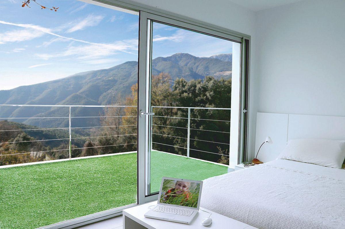 Gazon synthétique 1 x 25 m pour terrasse ou balcon \