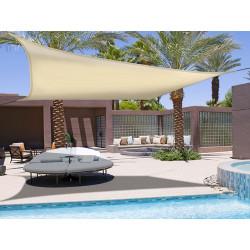 """Voile d'ombrage élastique """"Sunnet Kit Elastic"""" - Carré 3,40m x 3,40m - Beige de marque NORTENE , référence: J4661100"""