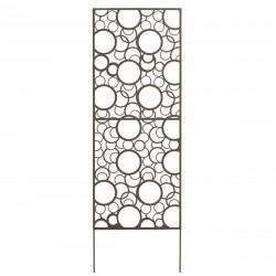 Panneau métal avec motifs décoratifs/Ronds - 0,60 x 1,50 m - Brun vieilli de marque NORTENE , référence: J4662300