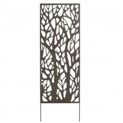 Panneau métal avec motifs décoratifs/Arbres - 0,60 x 1,50 m - Brun vieilli de marque NORTENE , référence: J4662400