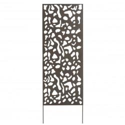 Panneau métal avec motifs décoratifs/Tâches - 0,60 x 1,50 m - Brun vieilli de marque NORTENE , référence: J4662500