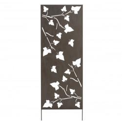 Panneau métal avec motifs décoratifs/Feuilles - 0,60 x 1,50 m - Brun vieilli de marque NORTENE , référence: J4662600