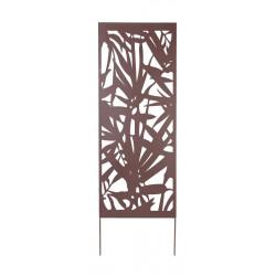 Panneau métal avec motifs décoratifs/Feuillage - 0,60 x 1,50 m - Brun de marque NORTENE , référence: J4662700