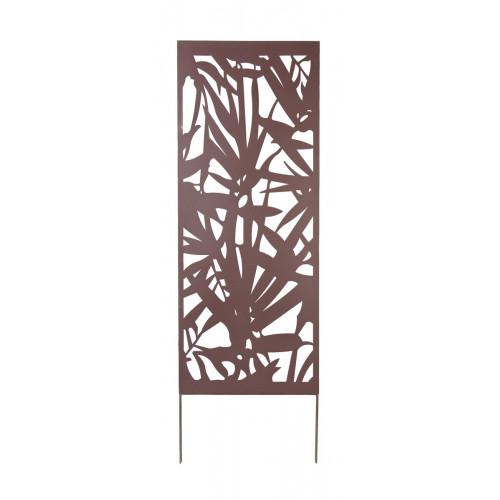 Panneau métal avec motifs décoratifs/Feuillage - 0,60 x 1,50 m - Brun -  NORTENE