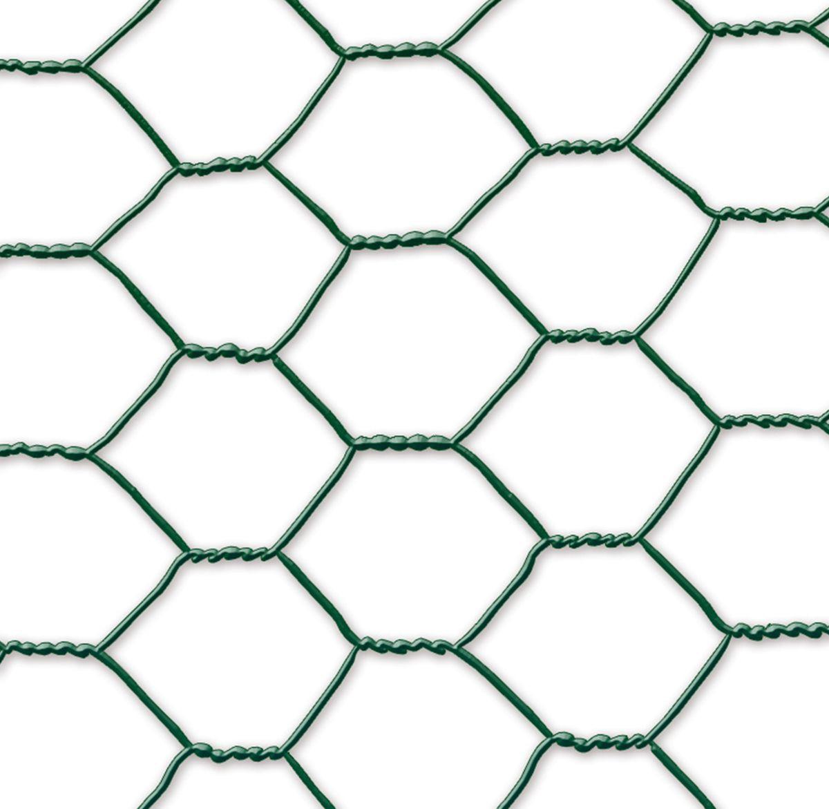 Grillage métal plastifié - 1 x 10 m/19 x 0,7 mm \