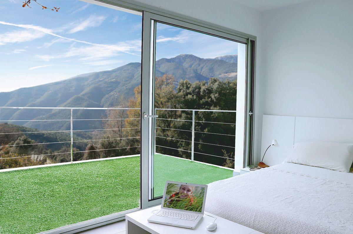 Gazon synthétique 1 x 5 m pour terrasse ou balcon \
