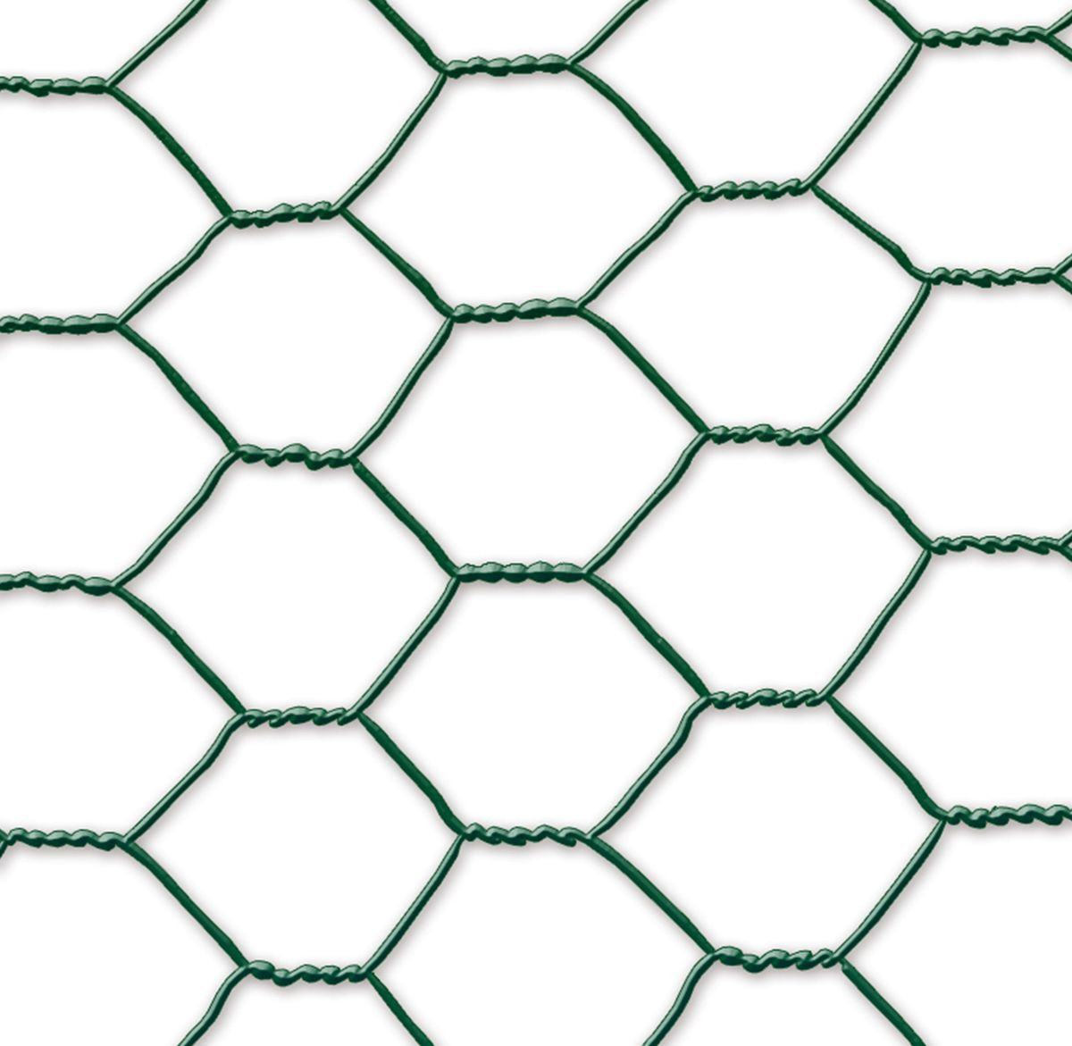 Grillage métal plastifié - 0,50 x 10 m/19 x 0,7 mm \