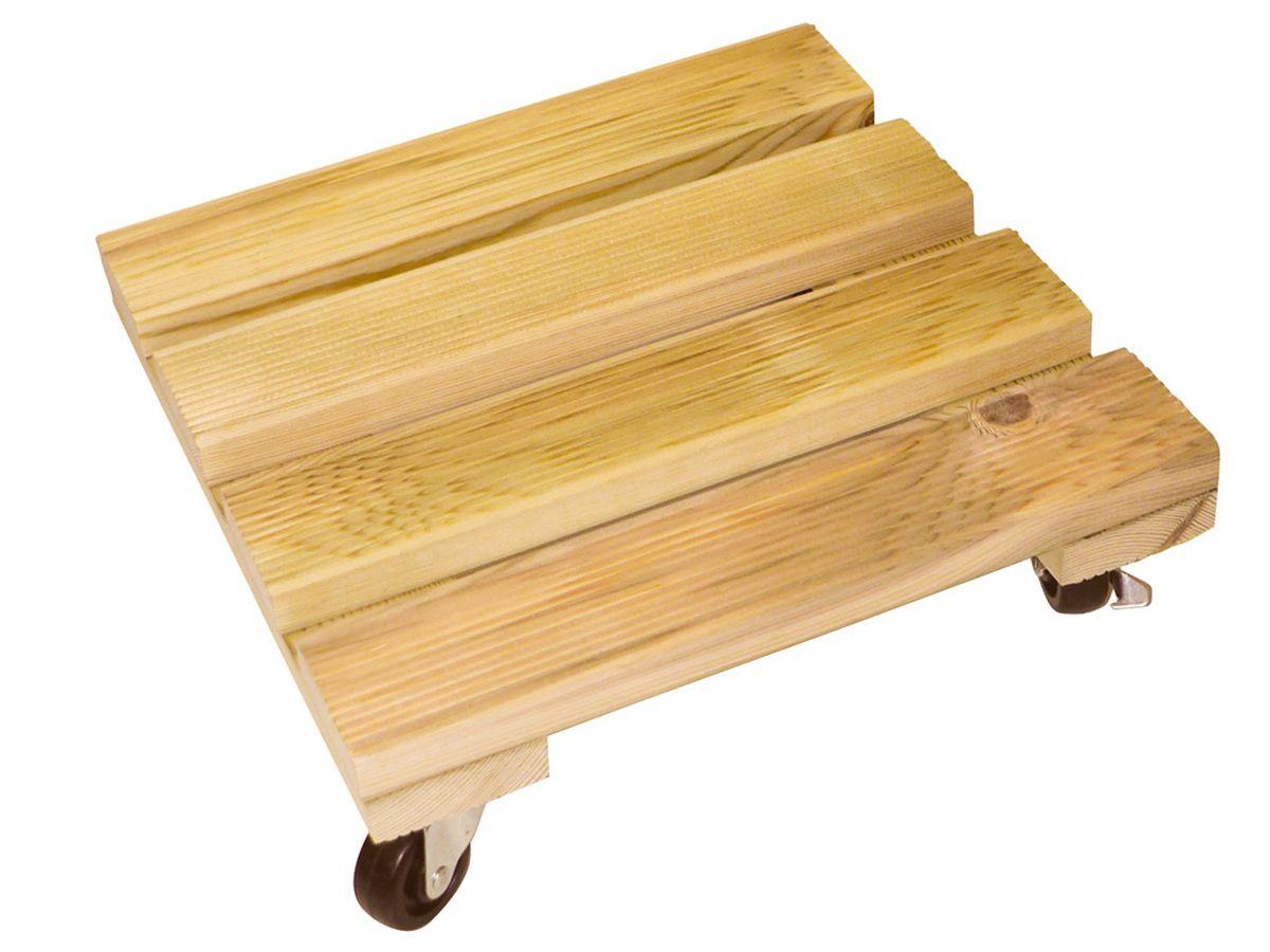 Support à roulettes bois carré \