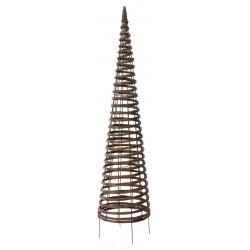 """Structure en métal habillée d'osier naturel tressé """"Pyramid"""" - 0,30 x 1,30 m de marque NORTENE , référence: J4676700"""