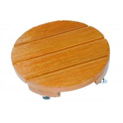 """Support à roulettes bois rond """"Flora Roll Lasure""""- 30 cm de marque NORTENE , référence: J4681100"""
