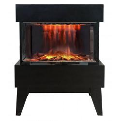 """Foyer électrique design """"Vidrio"""" - noir de marque CHEMIN'ARTE, référence: B4694600"""
