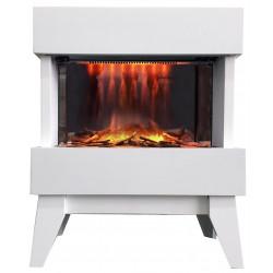 """Foyer électrique design """"Vidrio"""" - blanc de marque CHEMIN'ARTE, référence: B4694700"""