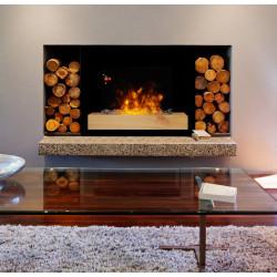 """Cheminée électrique design """"Fire Wood"""" de marque CHEMIN'ARTE, référence: B4694800"""