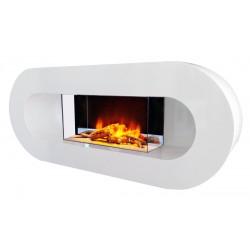 """Cheminée électrique décorative """"Ovalia"""" de marque CHEMIN'ARTE, référence: B4695300"""