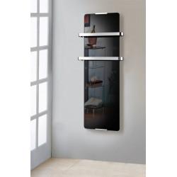 Radiateur sèche serviette noir 600W de marque CHEMIN'ARTE, référence: B4695900