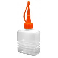 Burette en plastique, corps accordéon, bec plastique 60 ml de marque OUTIFRANCE , référence: B4747000