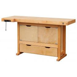 Etabli bois 1 tiroir 2 portes - H 0,82 x l 0,50 x L 1,50 m de marque OUTIFRANCE , référence: B4763800