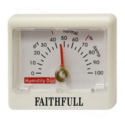 Mesureur d'humidité hygromètre - 50 x 70 mm de 0 % à 100 % de marque FAITHFULL, référence: B4776500