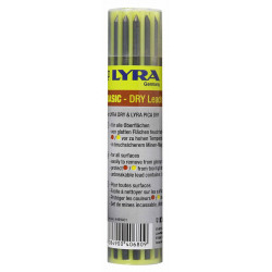 Etui de 12 mines LYRA DRY graphite 2B de marque LYRA, référence: B4777100