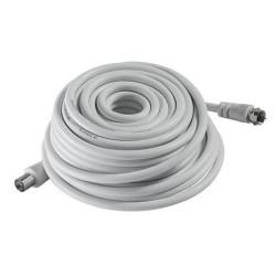 Câble TV / SAT / TNT 5m - Fiche coaxiale 9,52mm + fiche vissante type F de marque OUTIFRANCE , référence: B4811200