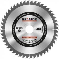 1 lame de scie circulaire 254 mm 3,0 mm 80 dents - alésage 30 mm de marque Kreator, référence: B4832100