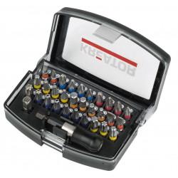 Coffret 32 pièces - 30 embouts avec bague + porte embouts de marque Kreator, référence: B4844700