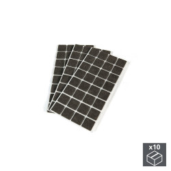 Lot de 10 sachets de 96 patins en feutre adhésifs carrés 25 x 25 mm de marque EMUCA, référence: B4853400