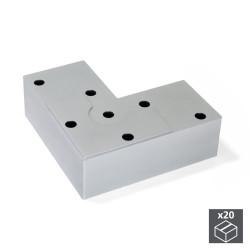 Lot de 20 pieds pour meubles Alumix8 hauteur 24 mm finition gris métallisé de marque EMUCA, référence: B4859900
