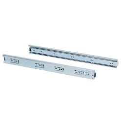 Paire de coulisses à billes pour tiroir à sortie totale 45 mm x L 400 mm de marque EMUCA, référence: B4872400