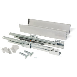 Kit de tiroir extérieur Vantage-Q hauteur 83 mm et profondeur 350 mm finition gris métallisé de marque EMUCA, référence: B4874000