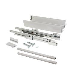 Kit de tiroir extérieur Vantage-Q hauteur 141 mm et profondeur 350 mm avec tringles finition gris métallisé de marque EMUCA, référence: B4874300