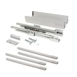 Kit de tiroir extérieur Vantage-Q hauteur 204 mm et profondeur 450 mm avec tringles finition gris métallisé de marque EMUCA, référence: B4874600