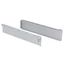 Kit de tiroir Ultrabox hauteur 118 mm et profondeur 500 mm finition gris métallisé de marque EMUCA, référence: B4876100
