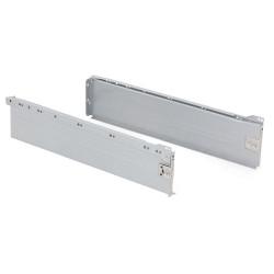 Kit de tiroir Ultrabox hauteur 150 mm et profondeur 500 mm finition gris métallisé de marque EMUCA, référence: B4876700