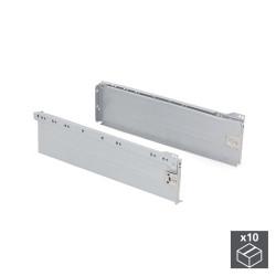 Lot de 10 kits de tiroir Ultrabox hauteur 150 mm et profondeur 350 mm finition gris métallisé de marque EMUCA, référence: B4876800