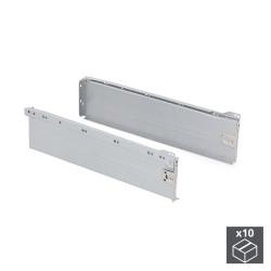 Lot de 10 kits de tiroir Ultrabox hauteur 150 mm et profondeur 450 mm finition gris métallisé de marque EMUCA, référence: B4876900