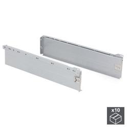 Lot de 10 kits de tiroir Ultrabox hauteur 150 mm et profondeur 500 mm finition gris métallisé de marque EMUCA, référence: B4877000