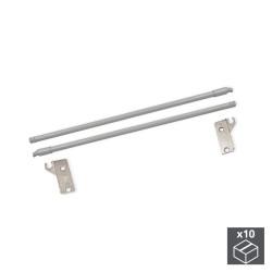 Lot de 10 jeux de tringles Ultrabox pour tiroir profondeur 450 mm finition gris métallisé de marque EMUCA, référence: B4877500