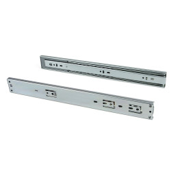 Paire de coulisses à billes pour tiroir à sortie totale 45 mm x L 350 mm avec fermeture amortie de marque EMUCA, référence: B4879800