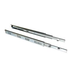 Paire de coulisses à billes pour tiroir à sortie totale 45 mm x L 400 mm avec équerres de marque EMUCA, référence: B4880400