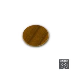 Lot de 1.000 pastilles adhésives D. 13 mm en finition marron de marque EMUCA, référence: B4881900
