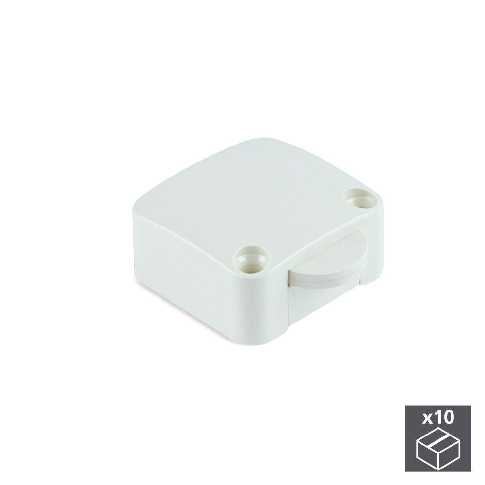 Lot de 10 interrupteurs pour porte en plastique blanc
