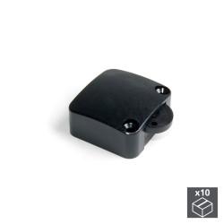 Lot de 10 interrupteurs pour porte en plastique noir de marque EMUCA, référence: B4896700