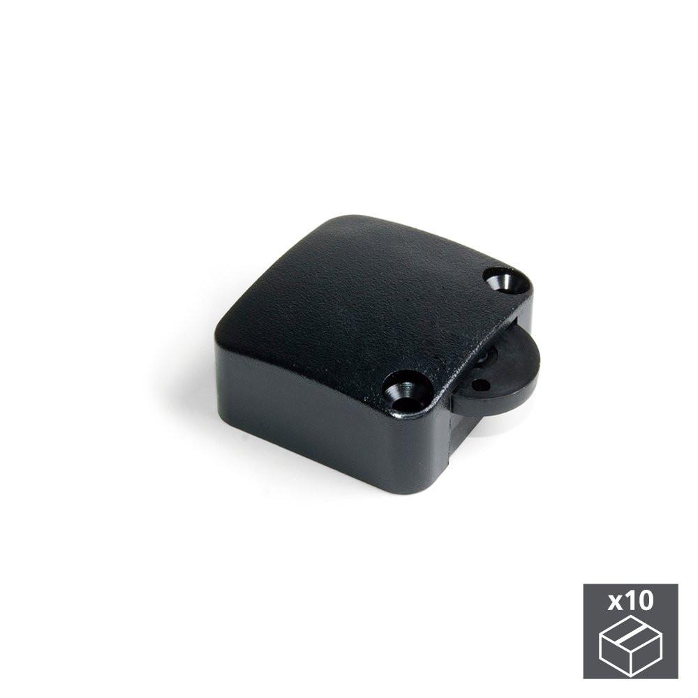Lot de 10 interrupteurs pour porte en plastique noir